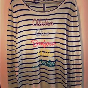 Talbots Women's Striped Sweater size 1X